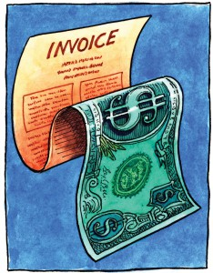 Invoice Dollar Bill --- Image by © Images.com/Corbis