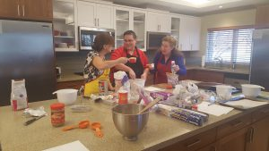 Baking Cookies at Ronald McDonald House