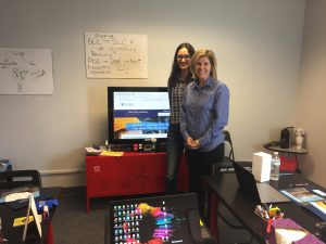 Kim Bukovsky & Julia Vasco During The Freight Bill Factoring Lunch & Learn Presentation