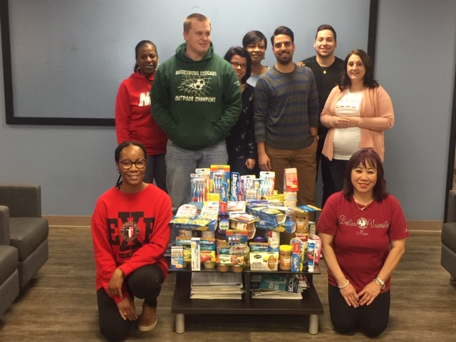 Mercerville office food drive participants