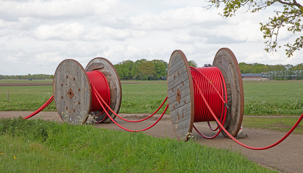 Huge,Roll,Of,Cable,For,Underground,Cable,Installation,,The,Netherlands